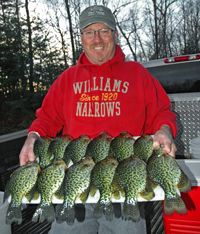 image of big Crappies on board held by Tom Cashman