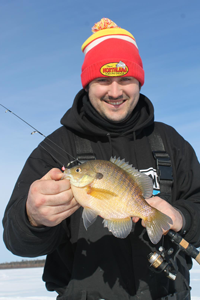 image of Blake Liend with Bluegill caught on Bass Lake