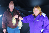 image of Jeff and Sue Ekholm with Crappies on Bowstring Lake