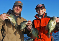 image of John and Dylan Kukkonen with slab crappies