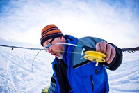 image of Ice fishing with Michael Thompson MT