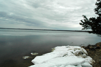 image of ice conditions on Bowstring Lake