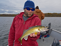 image of eating size Lake Winnie Walleye