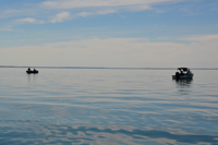 image of leech lake under calm conditions