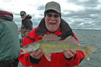image denotes Leech Lake Walleye Survey