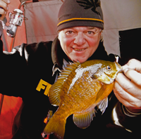 image of Rod Dimich with Bluegill caught on Bass Lake