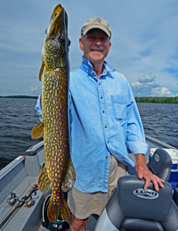 image of Bill Morgan holding large Nortrhern Pike
