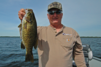 image of Bobby Cox with nice Smallmouth Bass