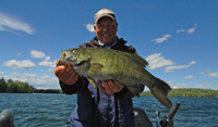 image of Jeff Sundin with nice Smallmouth Bass