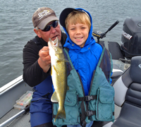 image of 9 year old Jason with nice Walleye