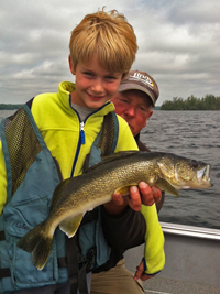 image of Bjorn Snyder with nice Walleye