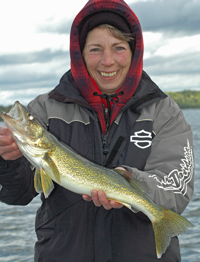 image of Diane Eberhardt with Cutfoot Sioux Walleye