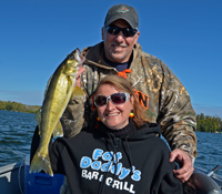 image of Lori and Phil holding a nice Walleye