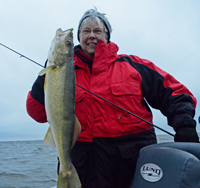 image of Penny Becker with big Leech Lake Walleye