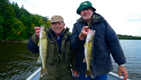 image of Gary and Paul Vitse with nice Walleyes