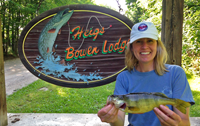 image of Bowen Lodge guest holding big Perch