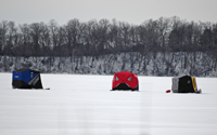 image of ice fishermen at Cutfoot Sioux