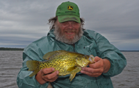 image of James Erickson with big Crappie