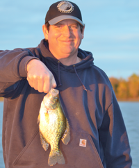 image of Justin John with Crappie