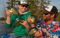 image of anglers holding crappies