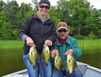 image of Jessica and Bud Drewlow with big crappies