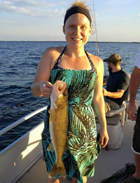 image of Andrea Wood with big Walleye
