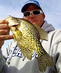 image of Chad Peterson with big Crappie