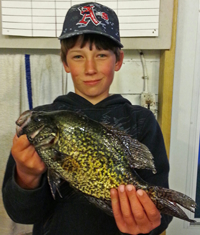 image of Cooper with big crappie