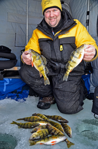 image of Jon Thelen with Lake Winnie Perch