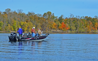 image of Walleye fishermen on lake winnibigoshish