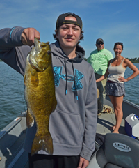 image of James with huge Smallmouth Bass
