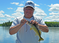 image of Larry Horseman with Walleye