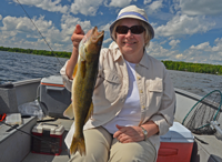 image of Bonnie Raquet with nice Walleye
