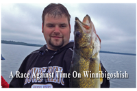 image of Dustin holding a big Lake Winnie Walleye