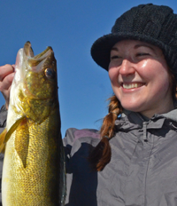 image of Kayla Eddy with big Walleye