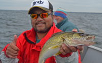 image of Neng Shao with big Winnie Walleye