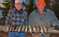 image of Keith Poliachik and Mike with nice limit of Walleyes