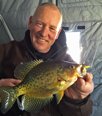 image of Jeff Sundin with big Crappie on Leech Lake