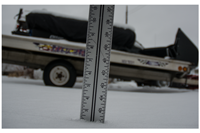 image of ruler measuring snow depth