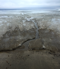 image of ice conditions at leech lake