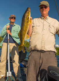image of scott hall and chad haatvedt with big walleye