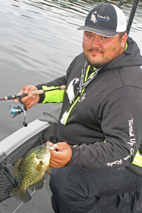 image of andy walsh with big crappie
