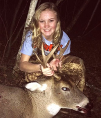 image of celia clusiau with nice buck