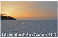 image of ice conditions at highbanks on lake winnie