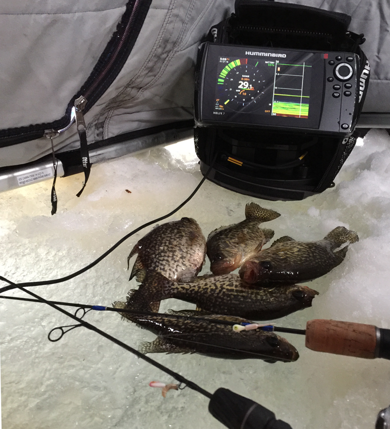 Minnesota ice fishing reports archive january 2018 for Helix 7 ice fishing