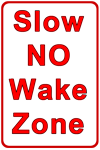 image of no wake zone