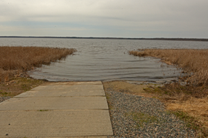 image of dry conditions at boat landing
