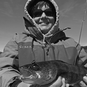 image of susan with nice walleye