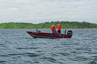 image of bowen lodge jens and ashley fishing