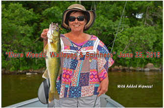 image of the Hippie Chick with big walleye